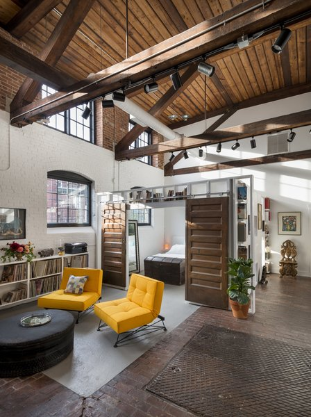 Loft Living Room and Bedroom Photo 11 of J Schatz Studio and Home in Providence modern home
