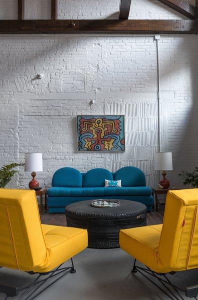 Living Room in Loft with J Schatz Kuni Juu Table Lamps Photo 14 of J Schatz Studio and Home in Providence modern home