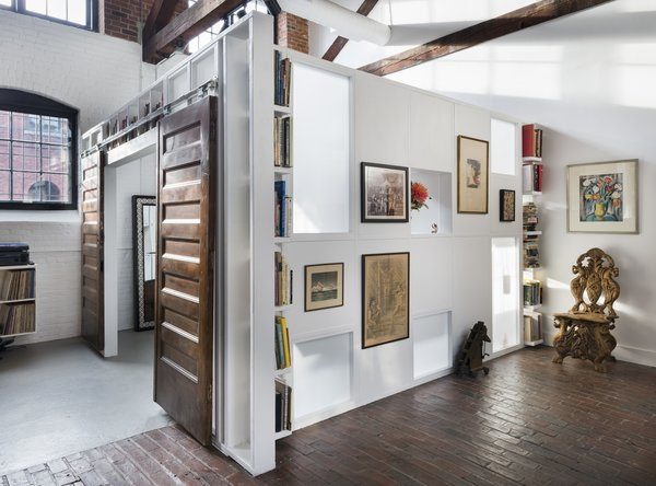 Custom built loft area for bedroom with translucent panels and cutouts Photo 12 of J Schatz Studio and Home in Providence modern home