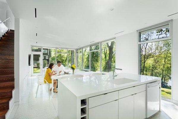 Open floor plan: Kitchen, Dining, & Living Room Photo 6 of Boetger Residence modern home