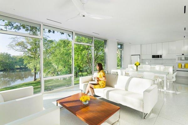Open floor plan: Kitchen, Dining, & Living Room Photo 2 of Boetger Residence modern home