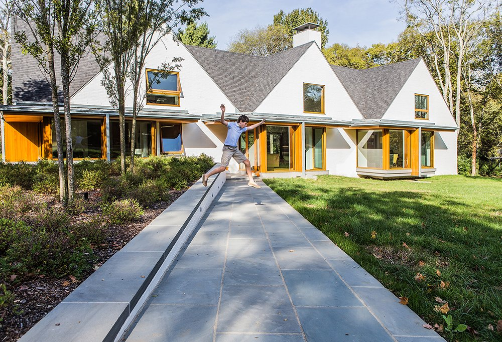 Front Entry Walk  Gable House by Michael Goorevich