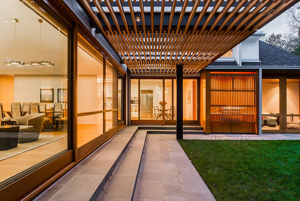 West Facing Terrace Arbor   Gable House by Michael Goorevich
