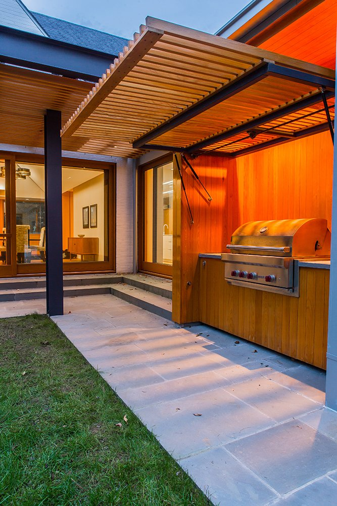BBQ and Lift Gate  Gable House by Michael Goorevich