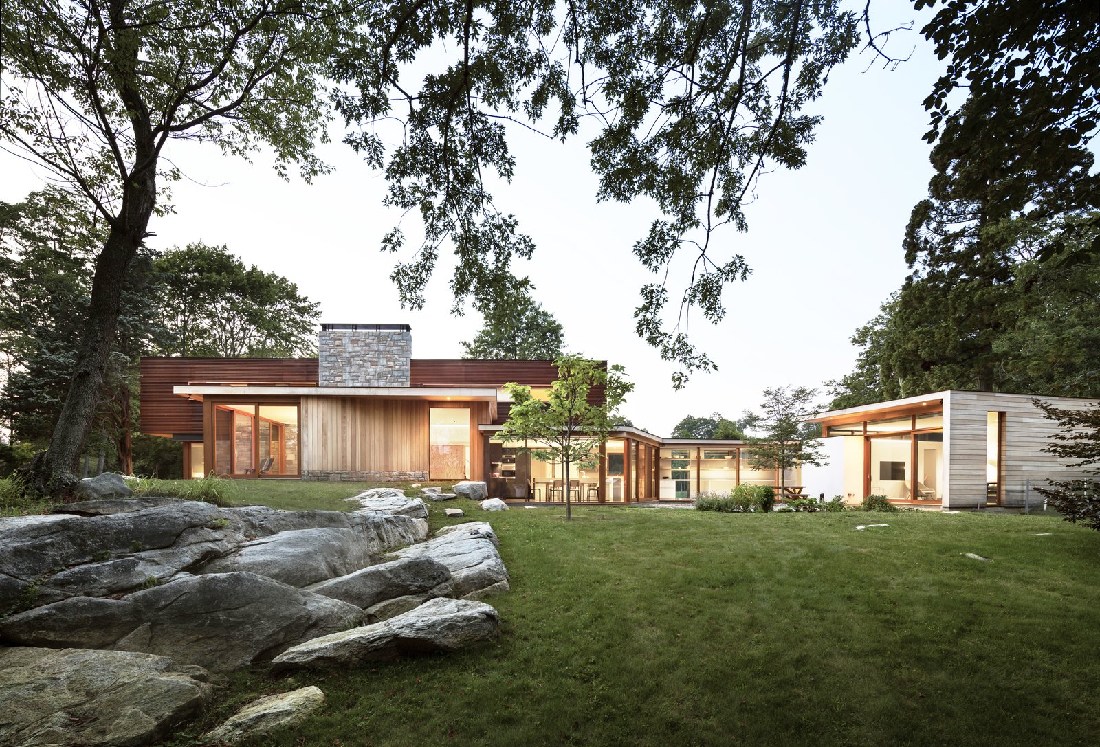 Tagged: Exterior, House, Metal Roof Material, Wood Siding Material, Stone Siding Material, Metal Siding Material, and Flat RoofLine.  Best Photos from Stonington/Lincoln Residence