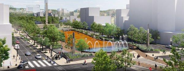 Paseo Urbano Monumento a la Madre - Eskema Arquitectos Photo  of Paseo Urbano Monumento a la Madre modern home