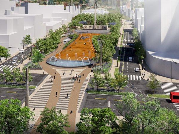 Paseo Urbano Monumento a la Madre - Eskema Arquitectos Photo 2 of Paseo Urbano Monumento a la Madre modern home