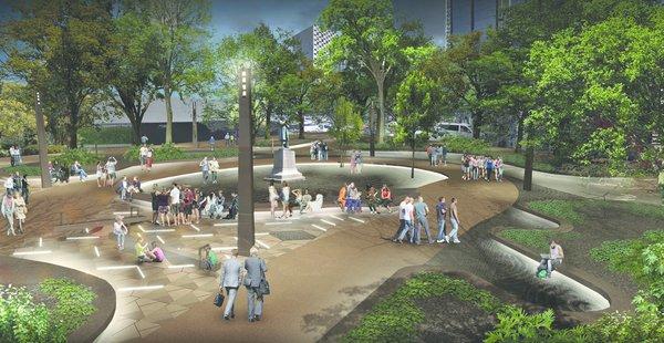 Paseo Urbano Monumento a la Madre - Eskema Arquitectos Photo 4 of Paseo Urbano Monumento a la Madre modern home