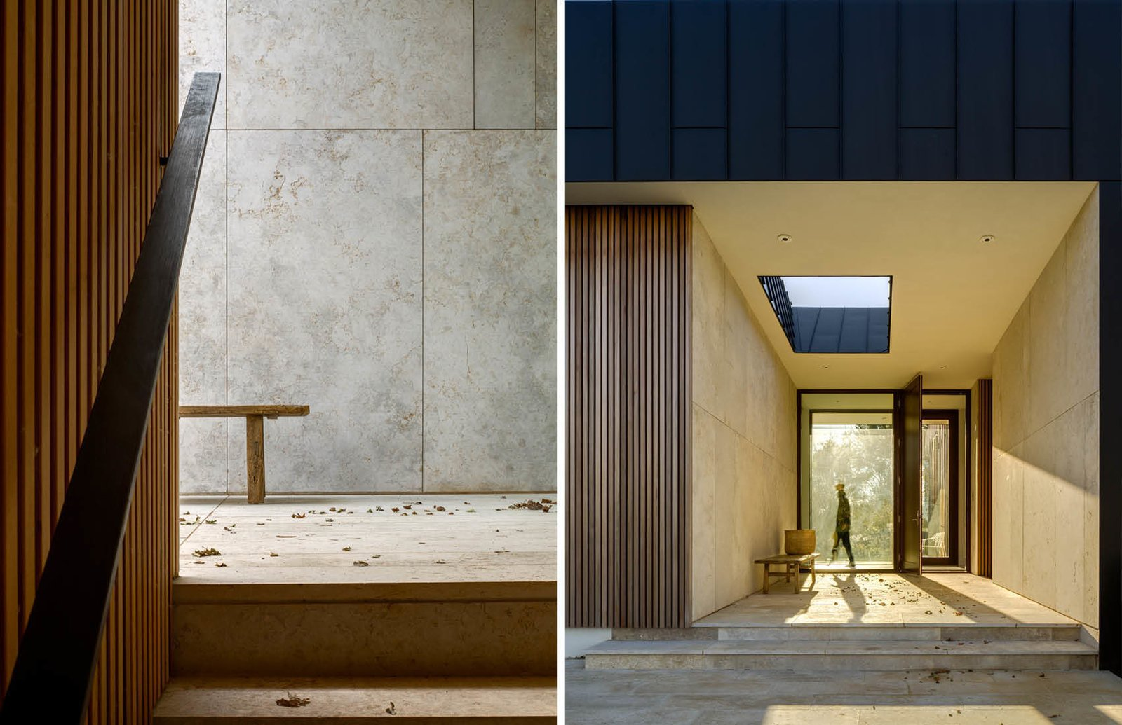 Entry Patio  Watermill House by Office of Architecture