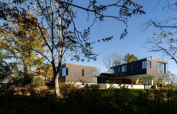 Rear Facade overlooking the wetlands Photo 9 of Watermill House modern home