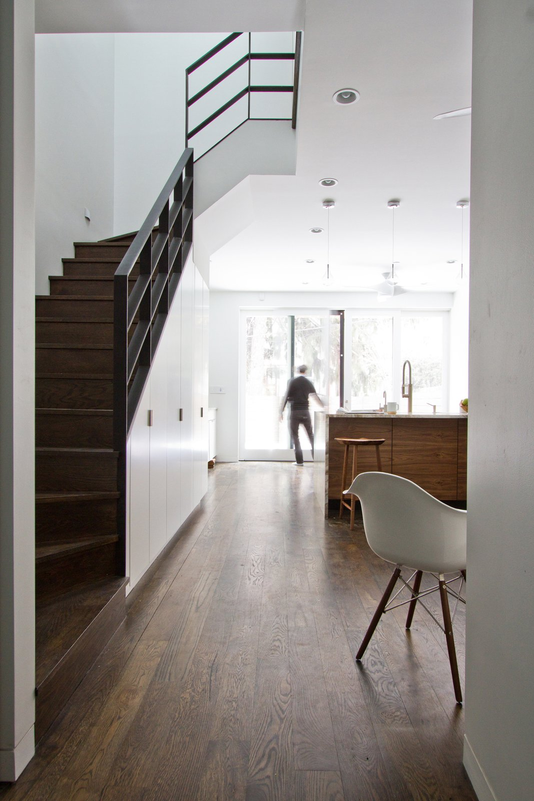 New Stair at Living/Dining/Kitchen  Brooklyn Row 2 by Office of Architecture