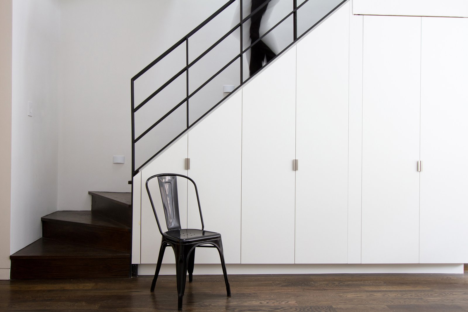 Stair with Storage underneath  Brooklyn Row 2 by Office of Architecture
