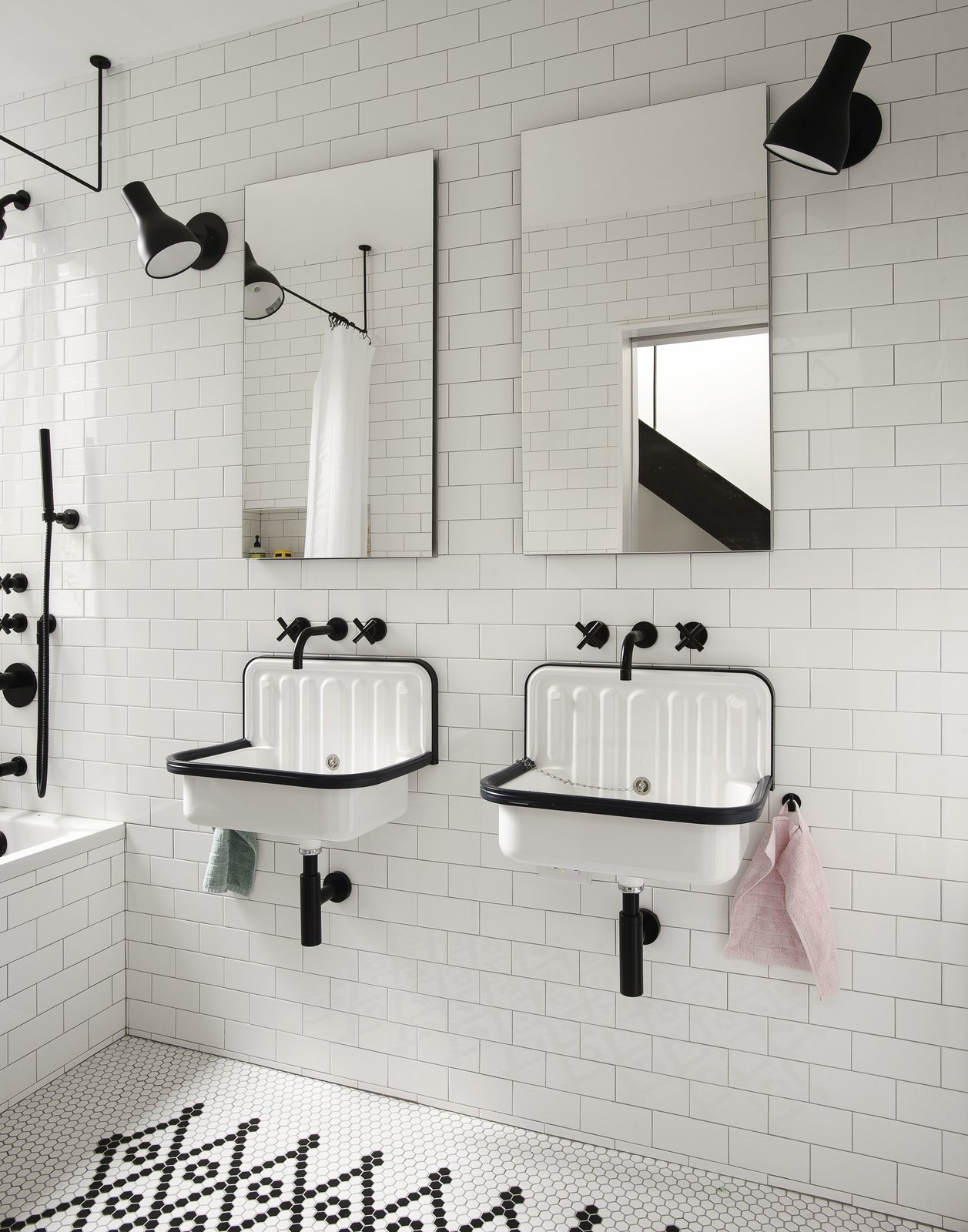 Kids' Bathroom Tagged: Bath, Ceramic Tile, Wall Mount, Drop In, Ceiling, Ceramic Tile, One Piece, and Wall.  Best Bath Ceramic Tile Wall Mount Photos from Brooklyn Row 1