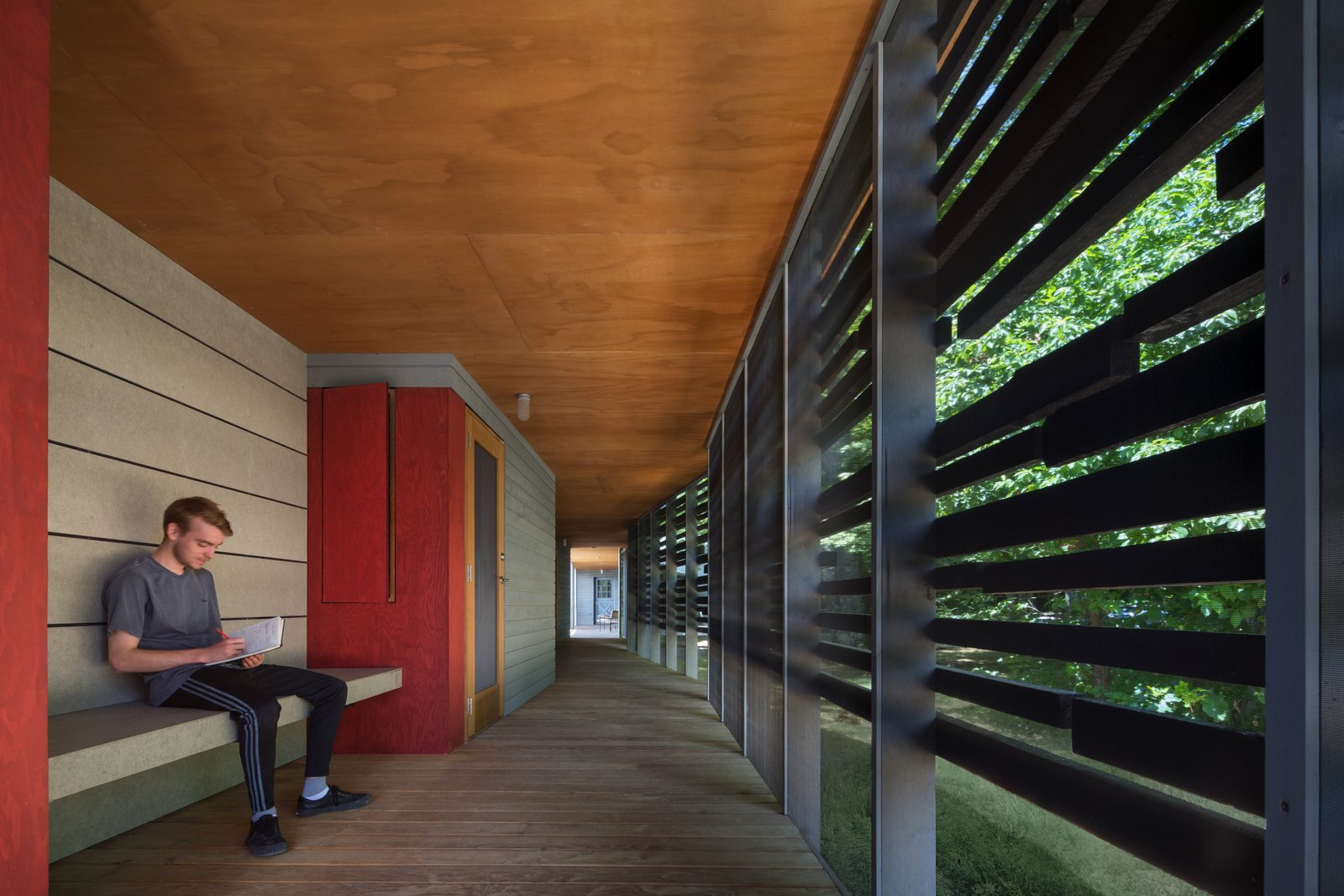 Tagged: Hallway and Medium Hardwood Floor.  High Meadow at Fallingwater by Bohlin Cywinski Jackson