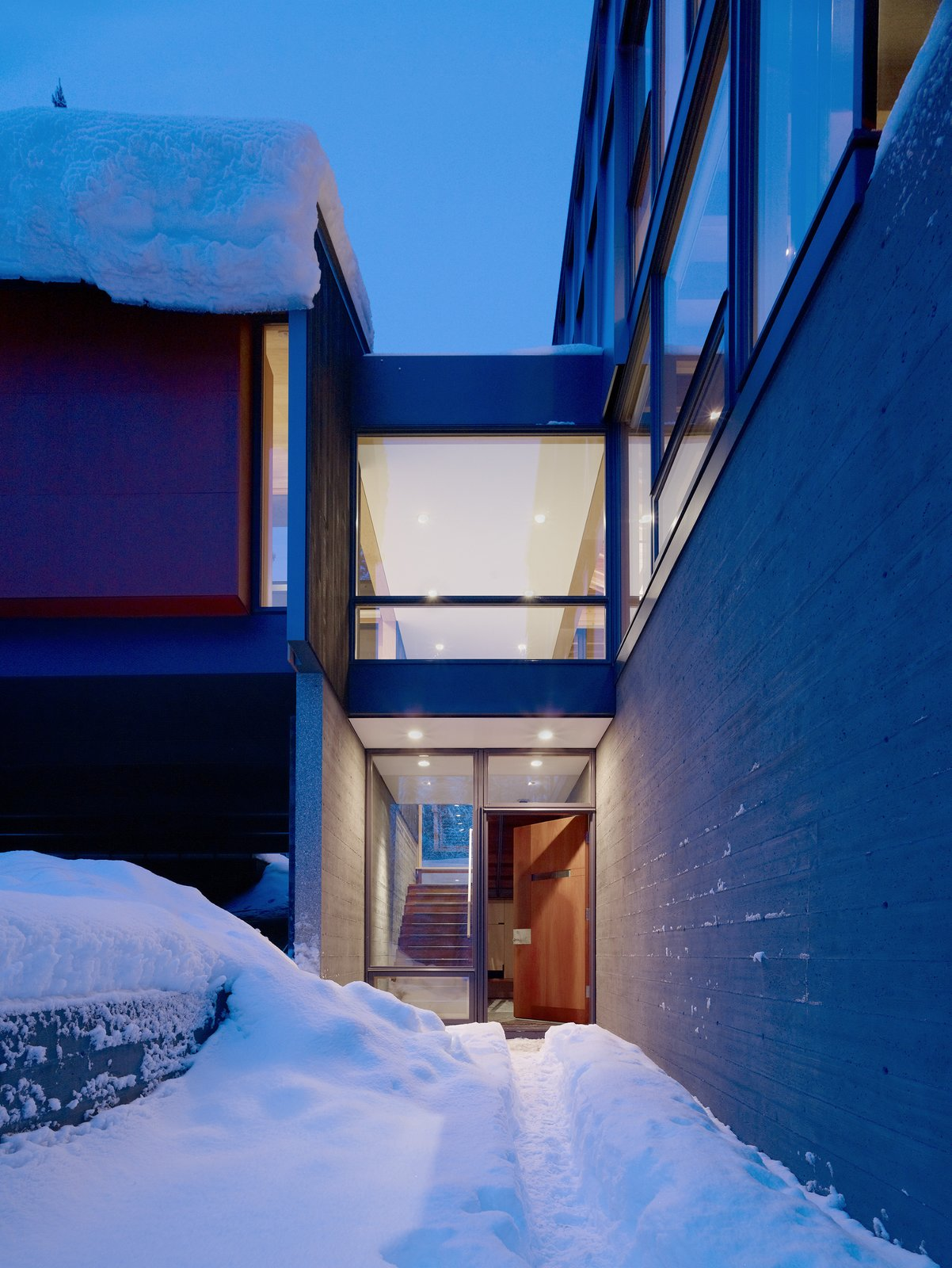 Tagged: Doors, Exterior, Swing Door Type, and Wood. Kicking Horse Residence by Bohlin Cywinski Jackson
