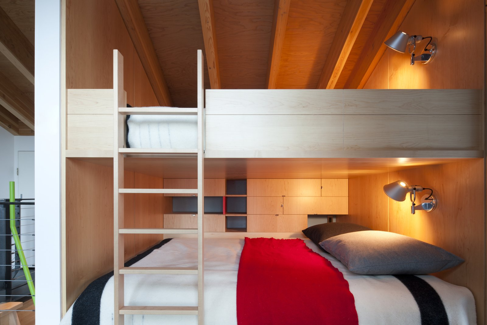 Tagged: Bedroom, Bunks, and Wall Lighting.  Cabin ideas by 2w Internetriors from Kicking Horse Residence