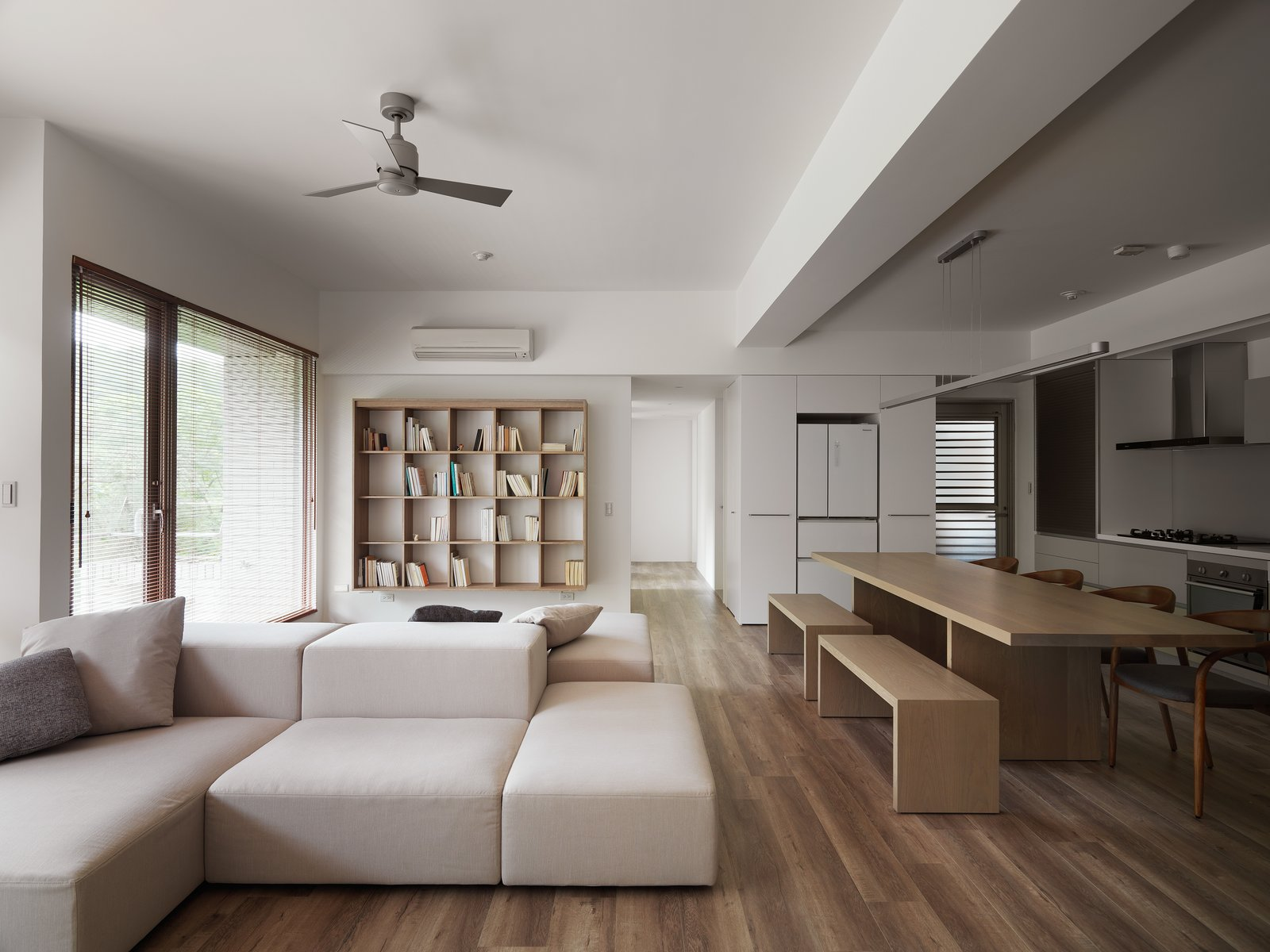 Open living space.  H Residence by Marty Chou Architecture