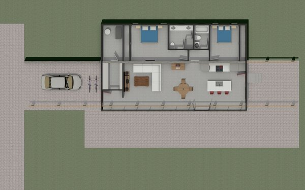 Floor Plan Rendering Photo 4 of Ha-Smith House modern home