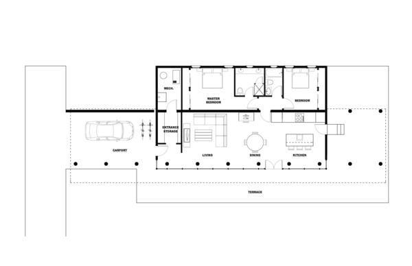 Floor Plan Drawing Photo 5 of Ha-Smith House modern home