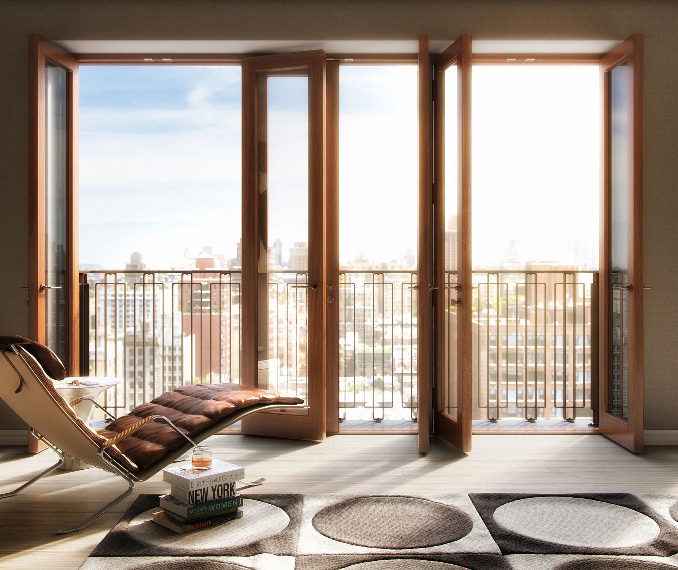 Hansen employed danish masonry brick work and solid mahogany framed windows for his residential project, Two Ten West 77. Danish-Modern Master Thomas Juul-Hansen Talks About Timeless Design - Photo 6 of 6