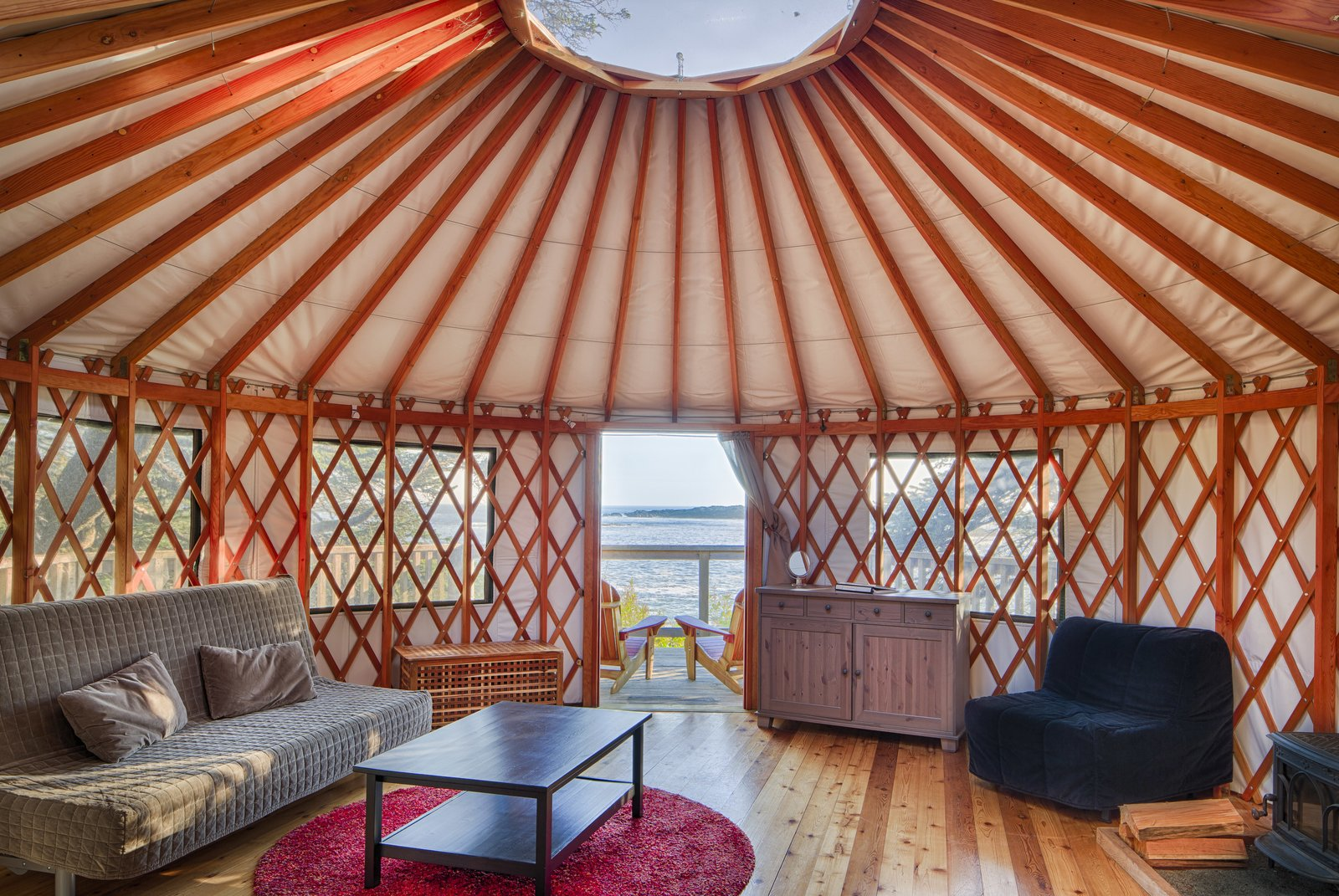 Photo 7 of 10 in 9 Yurt Vacation Rentals For the Modern Alternative Camper