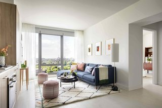 "Tour a New Residential High-Rise That's Uniquely ""Chicago"" - Photo 7 of 11 - The living room of the one-bedroom unit"