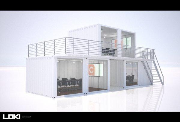 3D Container Office Design - Workbox Photo  of Creative Workbox modern home