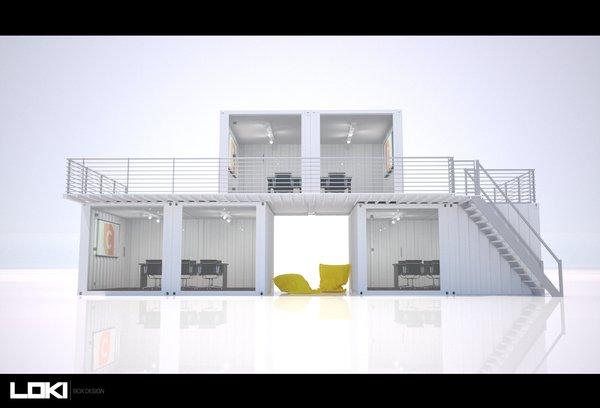 3D Container Office Design - Workbox Photo 2 of Creative Workbox modern home