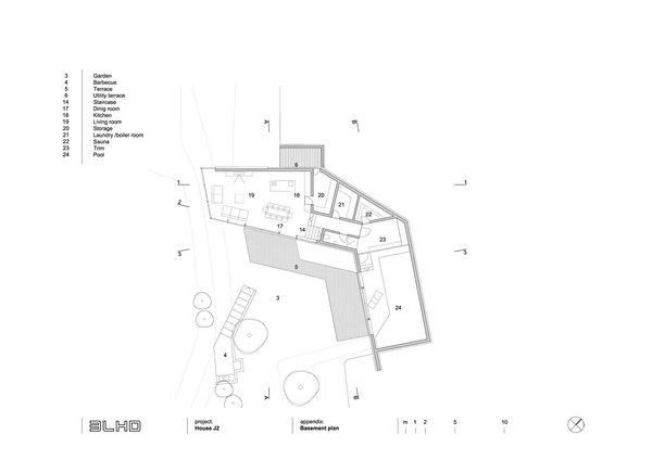 Basement floor plan Photo 7 of House J2 modern home