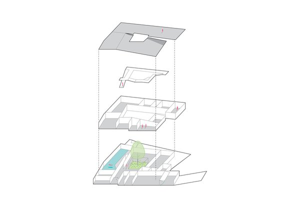 Concept sketch Photo 10 of House K modern home