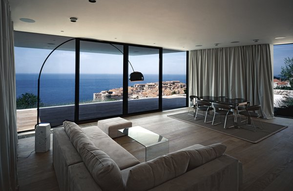 Living room and the view of Dubrovnik from the house Photo 5 of House U modern home