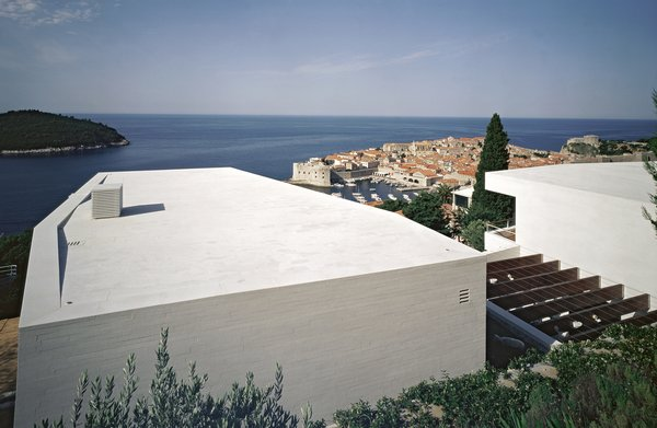 View of the house and Dubrovnik in the background Photo 9 of House U modern home