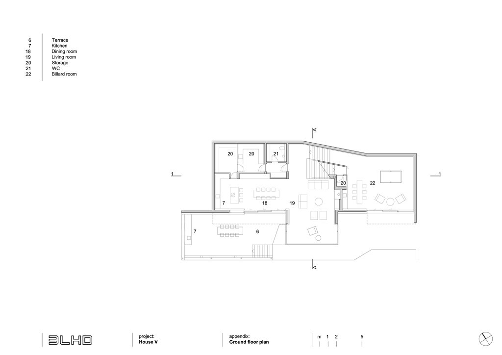 Ground floor plan House V2 by 3LHD