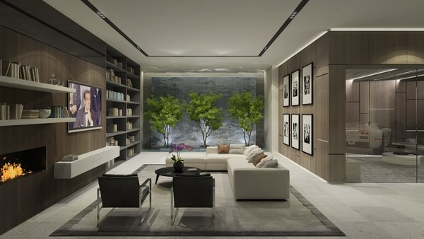 Entertainment Level Photo  of Rising Glen Road Residence modern home