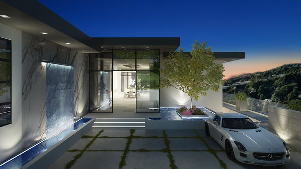 Entry Photo 9 of Rising Glen Road Residence modern home