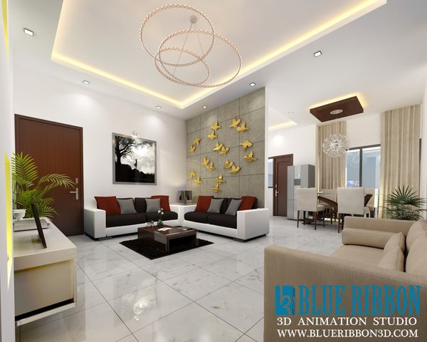 Photo 9 of 3d Interior rendering modern home