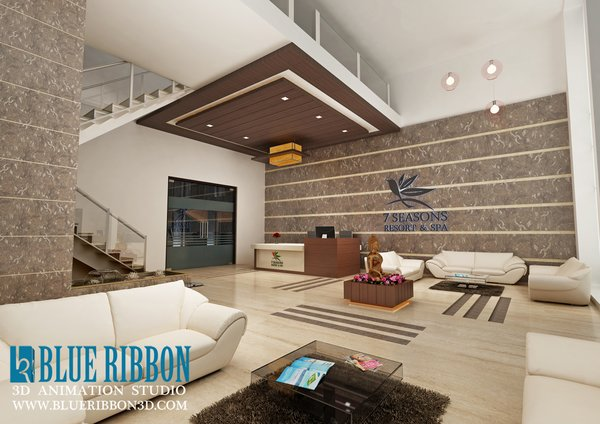 Photo 4 of 3d Interior rendering modern home