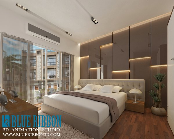 Photo  of 3d Interior rendering modern home
