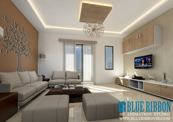 Photo 2 of 3d Interior rendering modern home