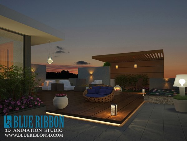 Photo 3 of 3d exterior rendering modern home
