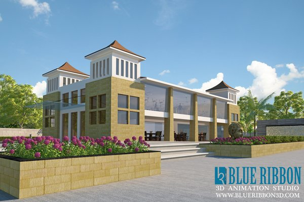 Photo 6 of 3d exterior rendering modern home