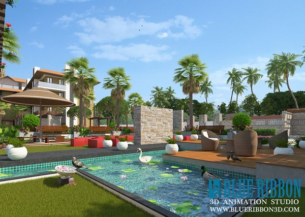 Photo 7 of 3d exterior rendering modern home