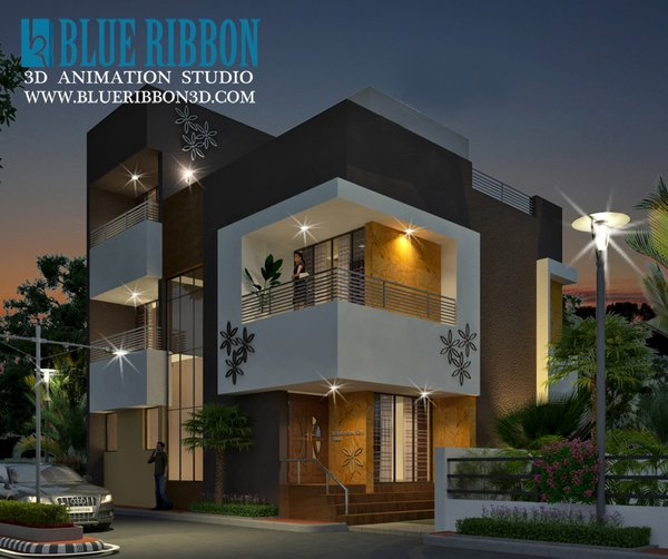Photo 5 of 3d exterior rendering modern home