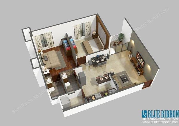 Photo  of 3d Floor Plan modern home