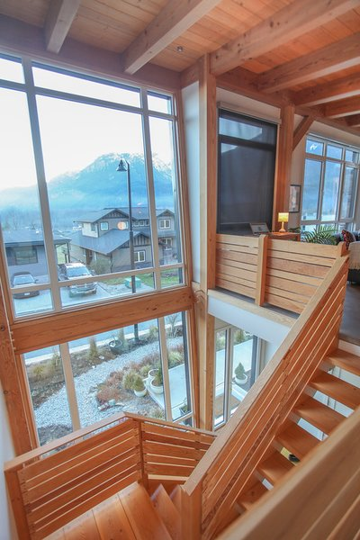 Timber Frame Staircase Feature Photo 6 of Sea to Sky's 1st ENERGY STAR New Home modern home