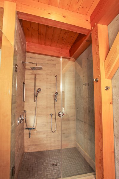Master Bath Shower features Concrete Retaining Wall Photo 5 of Sea to Sky's 1st ENERGY STAR New Home modern home