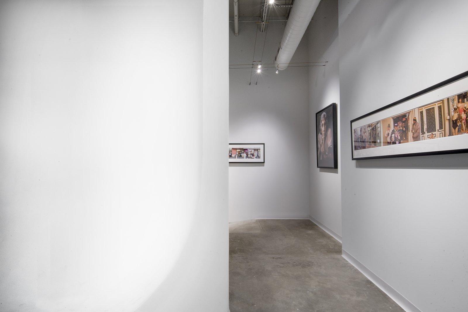Studio gallery wall, cyclorama wall.