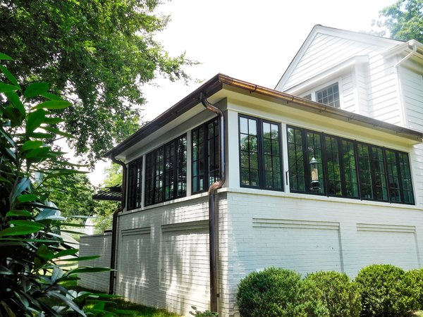 Modern home with casement window type, wood, outdoor, trees, and shrubs. Photo 10 of The Biese Project