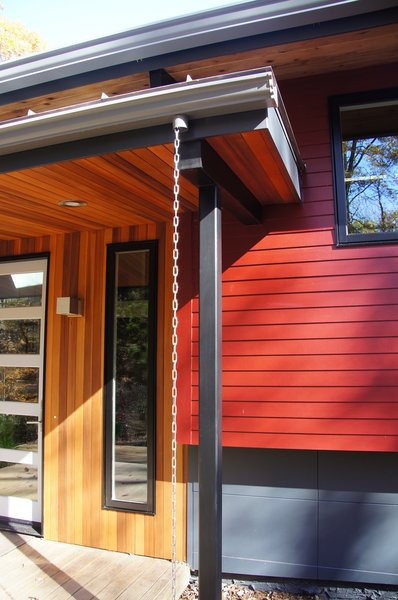 Modern home with swing door type, exterior, outdoor, and wood. Front Entry and Stoop Photo 2 of The Ross-Yarger Project