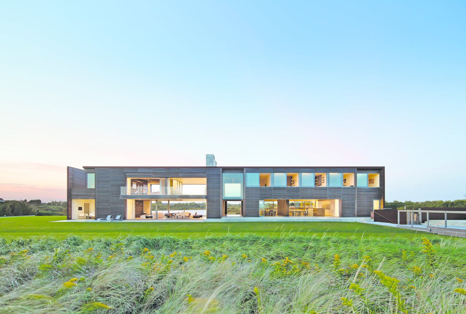 Tagged: Outdoor, Back Yard, Large Patio, Porch, Deck, Large Pool, and Grass. Sagaponack, NY by The Corcoran Group